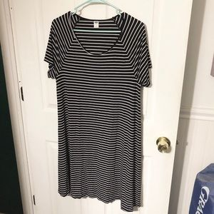 Old Navy Black & White Striped Dress
